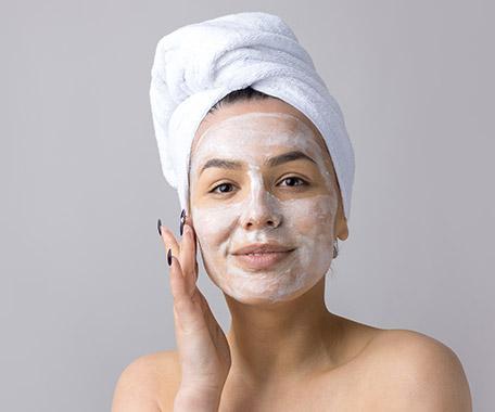 soin esthétique, masque au visage